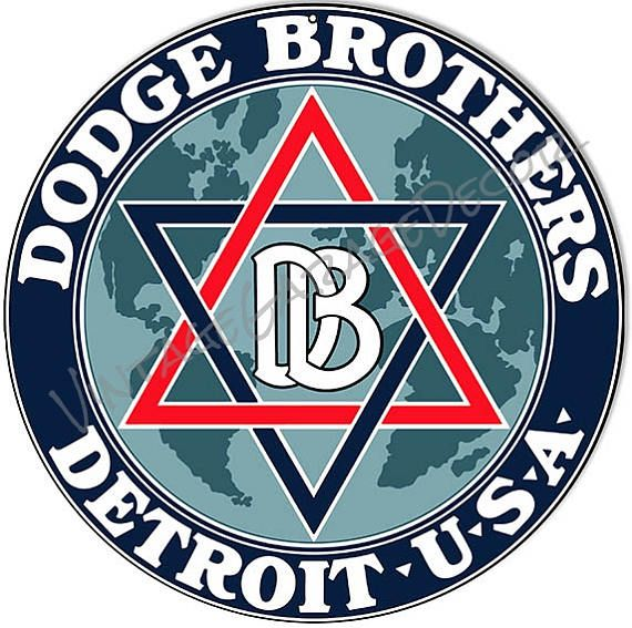 "Vintage Style "" Dodge Brothers - Detroit USA "" Round Metal Sign  $25.00+"