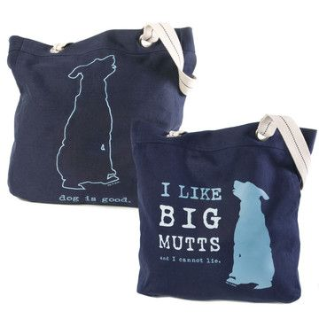 Dog lover tote by Dog is Good.