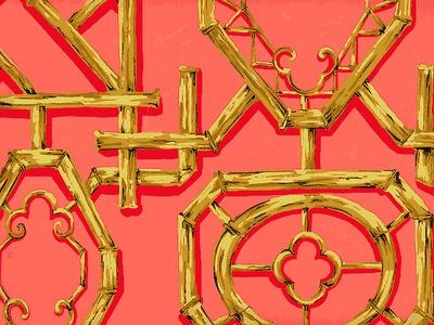 Tyler Hall wallpaper....pretty coral color....