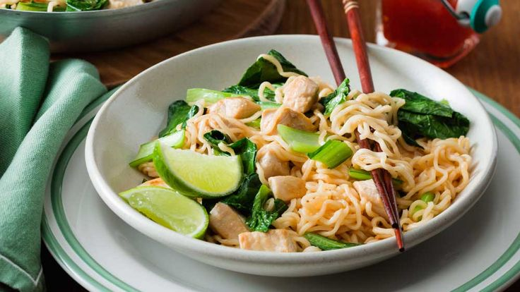 The+little+ones+will+be+lining+up+for+seconds+of+this+speedy+weekday+chicken+noodle+stir-fry.