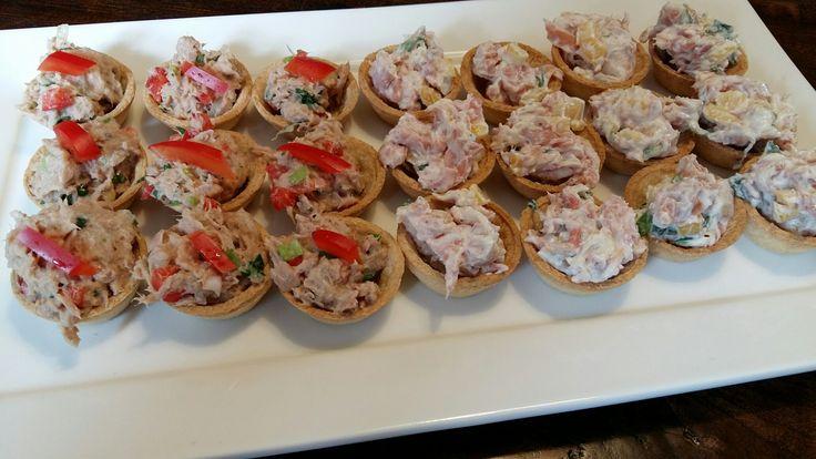 Taartjes met tonijn en ricotta vulling. www.bonappetit-someren.nl