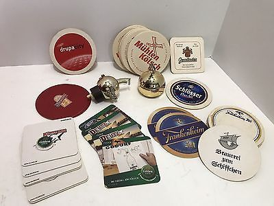 Lot Of 38 Vintage Beer Ale Advertising Coasters Preowned & 2 Liquor Pourers