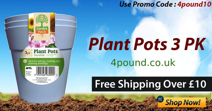 Order Amazing #Garden Products at #4pound Buy plant pots 3 pk Only available at Low price  Shop Now: http://www.4pound.co.uk/plant-pots-3-pk Free Shipping over £10.