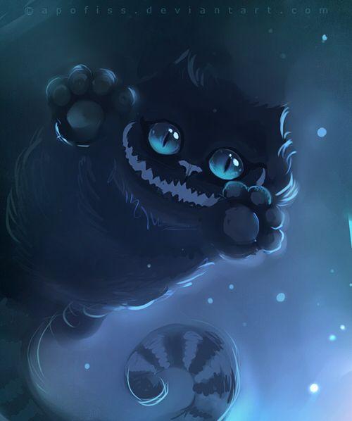 cheshire cat by Apofiss.deviantart.com on @deviantART