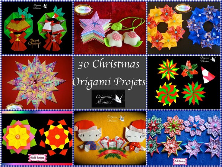 Origami Maniacs: 30 Origami Christmas Projects/30 Proyectos de Origami Navidenio