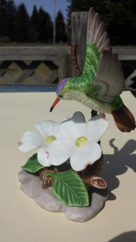 Hummingbird Amp Dogwood Figurine By Home Interiors Gifts 14071 99 Used