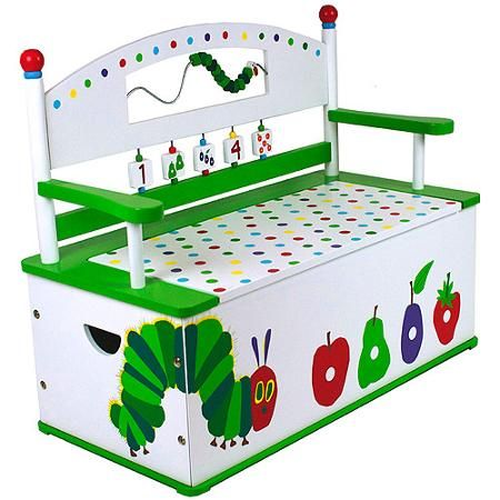 Levels of Discovery The Very Hungry Caterpillar Bench Seat with Storage - Walmart.com