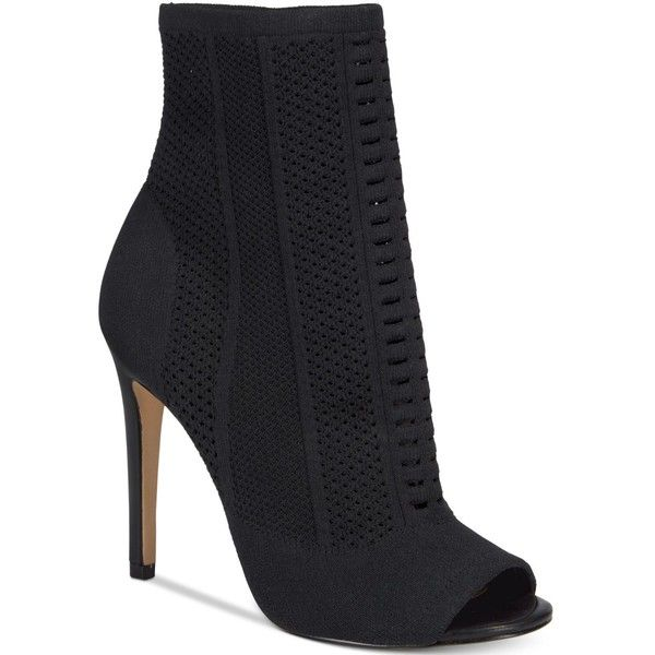 a5fe07bb3a3 Aldo Women s Keshaa Peep-Toe Knit Bootie ( 110) ❤ liked on Polyvore  featuring shoes