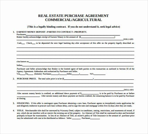 Property Purchase Agreement Template Best Of 8 Real Estate Purchase Agreement Samples Templates Real Estate Contract Contract Template Purchase Agreement