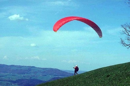 Holiday Inn Express Hotel & Suites Vernon Photo | Parachuting over the lakes and valley.