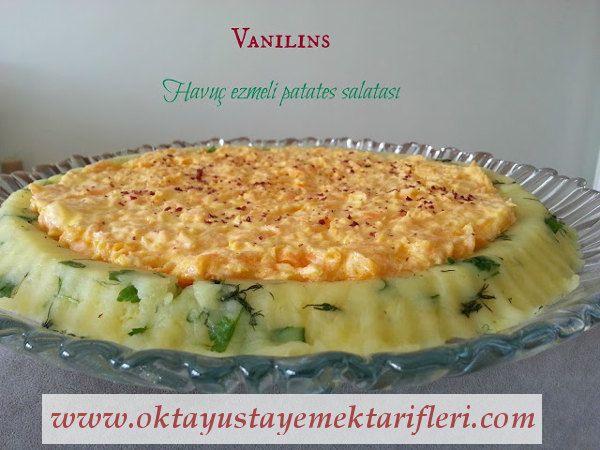 Havuç Ezmeli Patates Salatası - Salata Tarifleri. #patatessalatası #salata #oktayusta