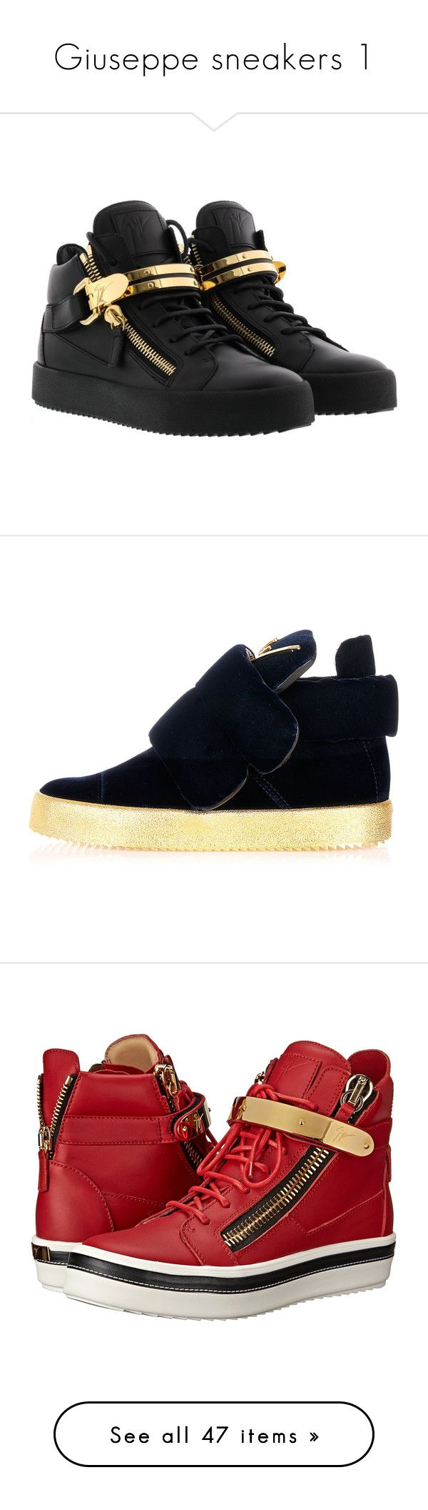 """Giuseppe sneakers 1"" by missy-smallen ❤ liked on Polyvore featuring shoes, platform shoes, velcro strap shoes, velcro closure shoes, wedge sneaker shoes, laced shoes, sneakers, black, giuseppe zanotti sneakers and kohl shoes"