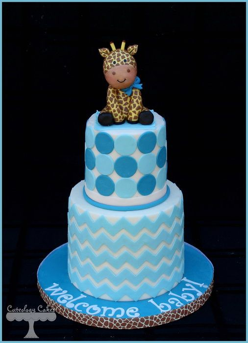 Giraffe Baby Shower Cake   By CuteologyCakes @ CakesDecor.com   Cake  Decorating Website