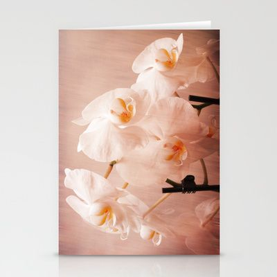 Orchids and Texture Design Stationery Cards by Fine2art - $12.00