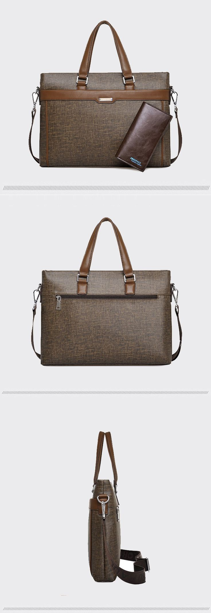 Men's Fashion  PU leather Briefcase + Wallet - Black,Blue,Brown  Mens For Men Business Organization modern Purse Design ideas storage bag Aesthetic luxury Essentials Design Style outfit Gift ideas For him office Work products shop store websites links for sale online shopping buy AuhaShop.com