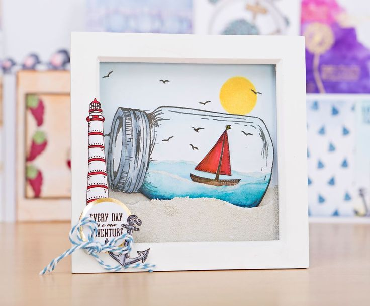 Nautical card design made using the For the Love of Stamps Ultimate Bundle 3! / stamping / cardmaking / papercraft / scrapbooking / stamps