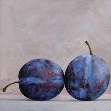 SUGAR PLUM STUDY, painting by artist Barbara Kacicek