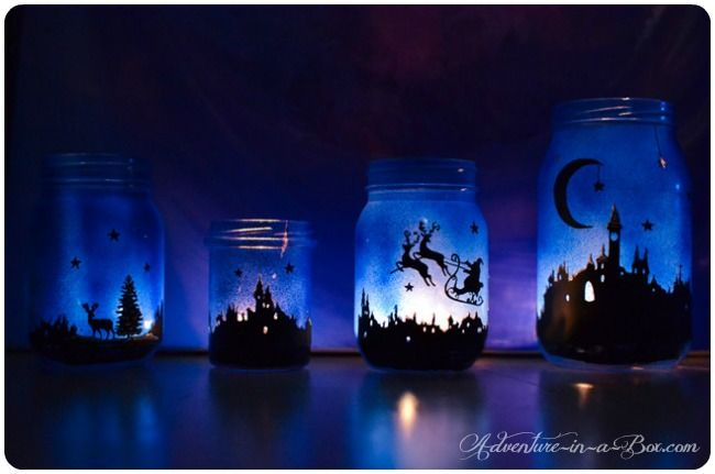 Magical Christmas Lanterns: DIY tutorial on how to turn Mason jars into lamps and create a simple Christmas decoration