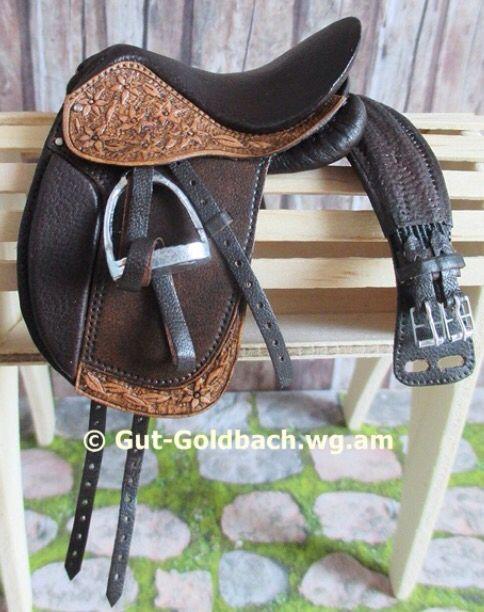 Model Horse Tooled Dressage Saddle Girth