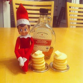 Elf on the Shelf Idea Mini Pancakes