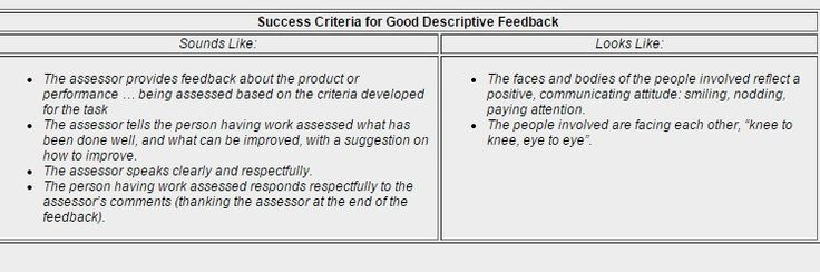 AER Chapter 4: Assessment for Learning and Assessment as Learning - Elementary Story: Descriptive Feedback