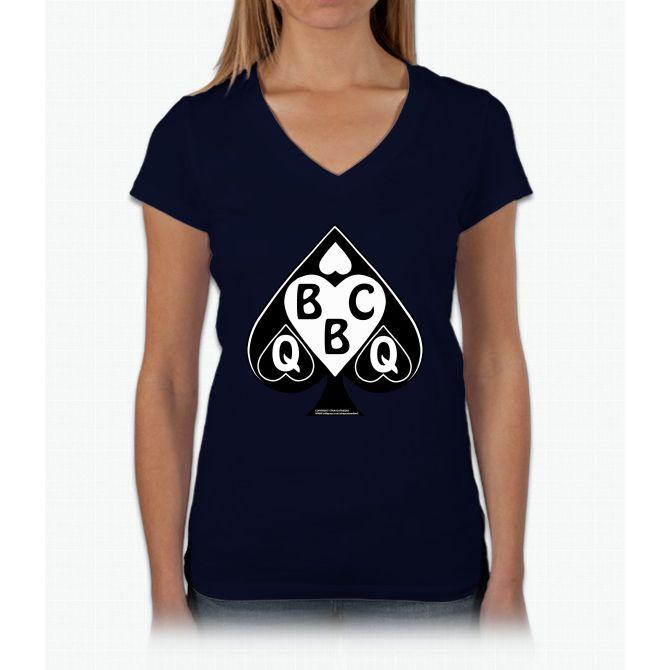 Queen Of Spades Loves Bbc Women's Tank Top Womens V-Neck T-Shirt