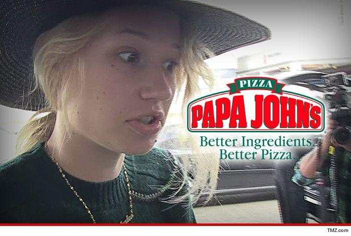 Iggy Azalea puts Papa John's drivers on BLAST!!