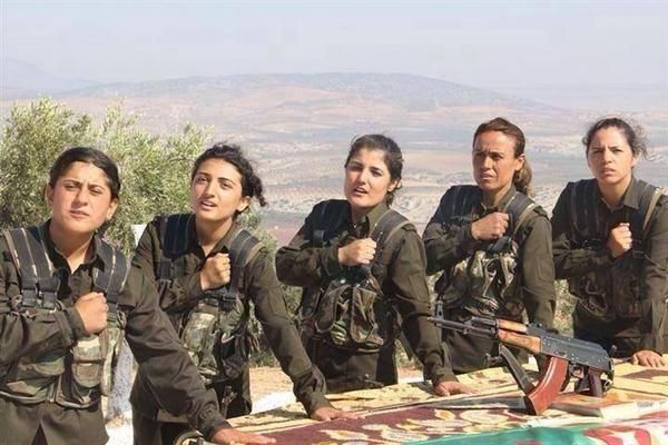 """Kurdish female fighters of YPG take the oath to fight ISIS. SUPPORT THEM! #ŞengalSOS #TwitterKurds""   -tweet by Hevallo   from https://twitter.com/Hevallo/status/496251991174426624  context...http://www.thegatewaypundit.com/2014/08/kurdish-female-peshmerga-fighters-take-oath-to-fight-isis-in-iraq-video/  http://www.thegatewaypundit.com/2014/10/female-kurdish-fighter-clashes-with-isis-rebels-fires-grenades-then-blows-herself-up-in-suicide-blast/"