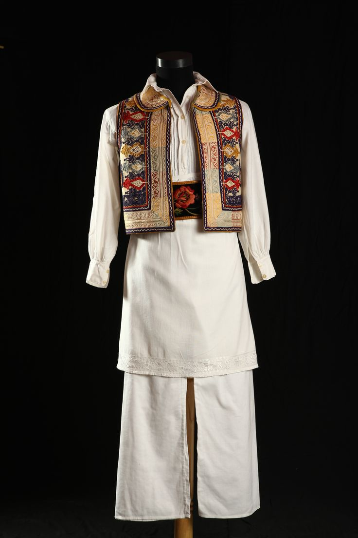 Festive garment for men, from Romania, from Banat plain.  Aprox. 1935.   Visit us on Facebook page: Colectia etnografica Marius Matei