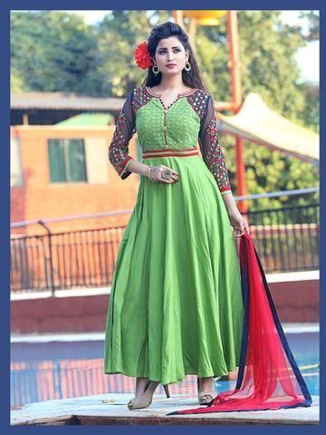 KESARIYA FASHION- Green Color Softy Salwar-1207-3957