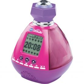 VTECH KidiMagic Colour Show KidiMagic Colour Show is a wonderful alarm clock with and FM radio and a soft glowing colour-changing mood light! Project the time onto the ceiling to see the time in the dark or plug in an mp3 player http://www.comparestoreprices.co.uk/educational-toys/vtech-kidimagic-colour-show.asp
