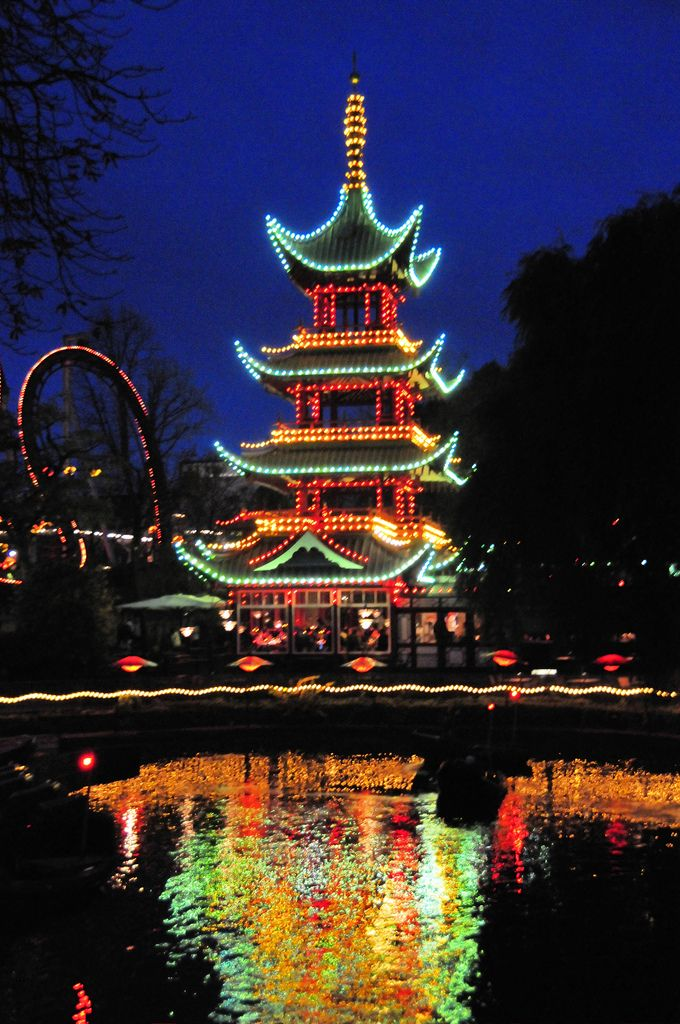 Tivoli Gardens Japanese Pagoda - Copenhagen  By mbell197  Tivoli Gar