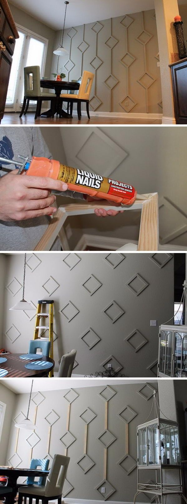 "18 Accent Wall DIY Ideas To Spice Up Your Home  For today we have a cool article for you that we call ""18 Accent Wall DIY Ideas To Spice Up Your Home"". Accent walls are an excellent way to spice up any"