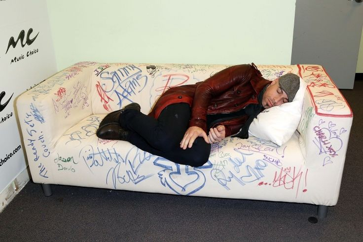 Sweet dreams. Chris Daughtry catches some z's at the Music Choice Play headquarters on Oct. 30 in New YorkMusic Choice, Chrisdaughtri Catching, Sleep Chris, Chris Daughtry, Plays Headquarters, Musicchoiceplay Headquarters, Heart Daughtry, Choice Plays, Daughtry Catching