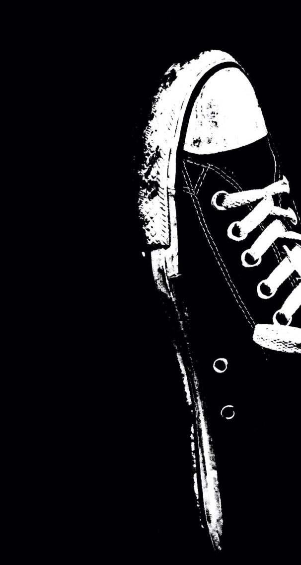blackampwhite converse iphone5c and iphone6 wallpaper