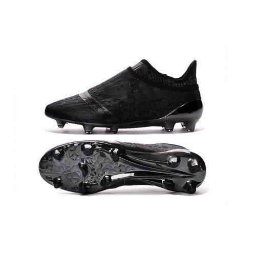 Billig 2016 Adidas X 16 Purechaos FG AG Fotbollsskor Allt Svart