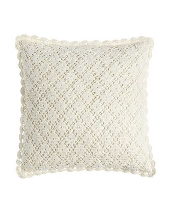 "Lorient+Crochet+Pillow,+20""Sq.+by+Pine+Cone+Hill+at+Neiman+Marcus."