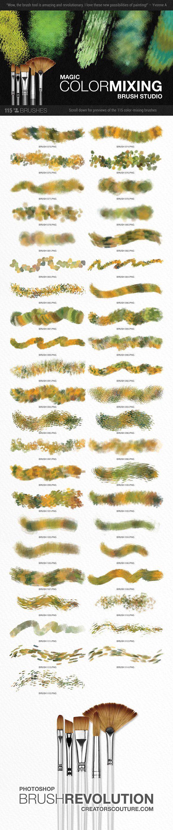 Watercolor art history brush cs6 - Modern Impressionist Ps Brush Studio