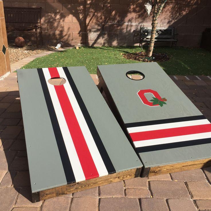 Ohio State Buckeye cornhole boards