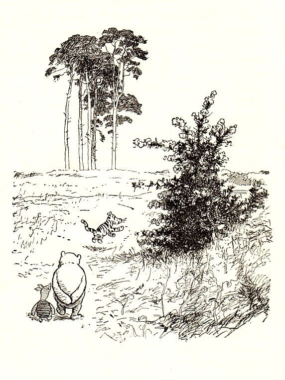 1960 Having a stroll, The House At Pooh Corner, E. H. Shepard