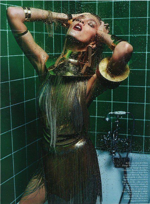 Anja Rubik photographed by Mario Sorrenti for Vogue Paris