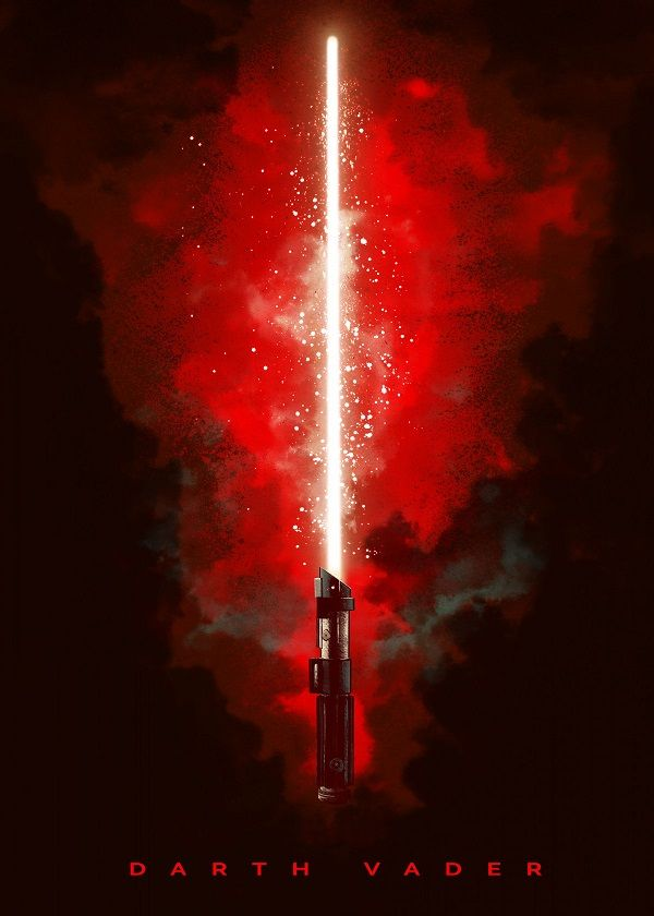 Official Star Wars Character Lightsabers Darth Vader Revenge Of The Sith Displate Artwork By Artist St Star Wars Light Saber Star Wars Images Star Wars Light