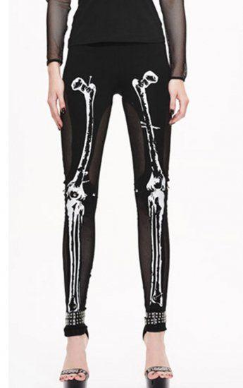 £19,99   UK14/UK16 Devil Fashion Bad Bones Leggings