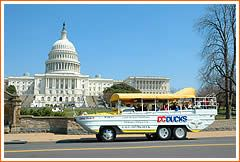 DC Duck tour in front of US Capitol