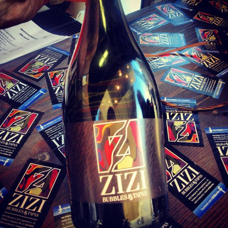 The first bottles of Zizi's sparkling wines