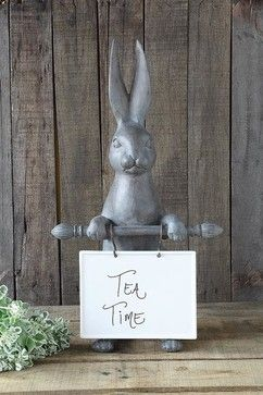 Bunny Ceramic Message Board traditional-home-decor