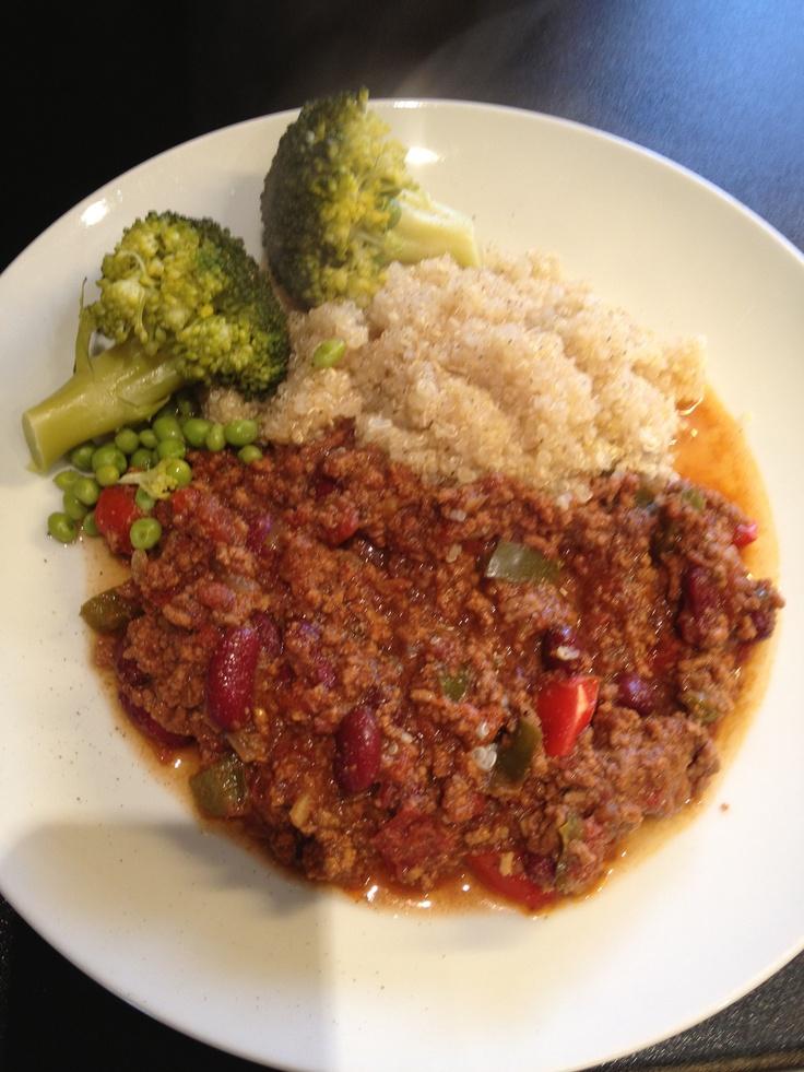 Clean homemade chilli with quinoa