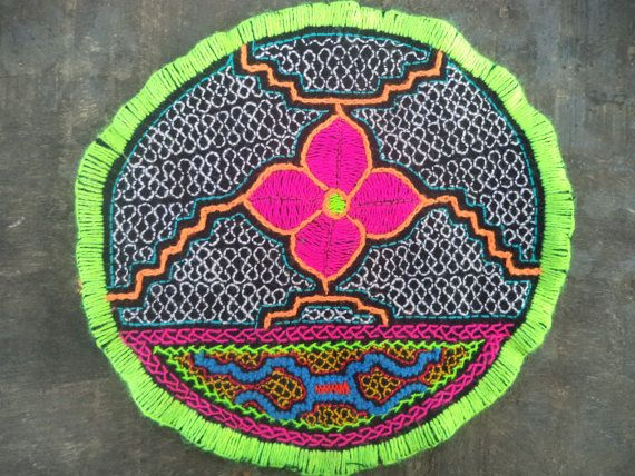 Shipibo Patch, Shipibo Ceremonial cloth,Shipibo Tapestry,Ayahuasca Ceremony, Shamanic Cloth, (I2)