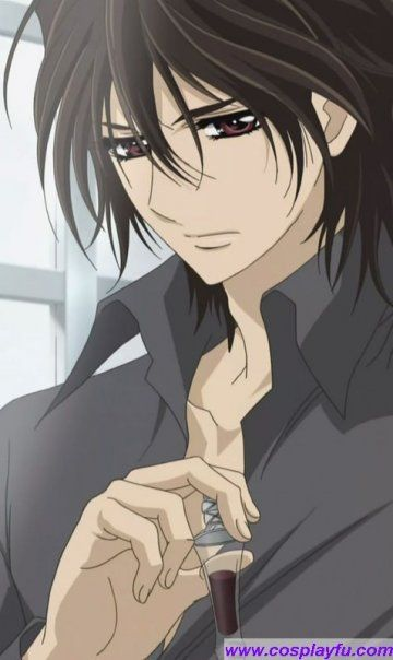 Kaname Kuran from Vampire Knight Okay is this weird I can't she Yuki with kaname or Zero but I kind of ship Zero with Yuki and when she went with Kaname it kind of missed me off know what I mean
