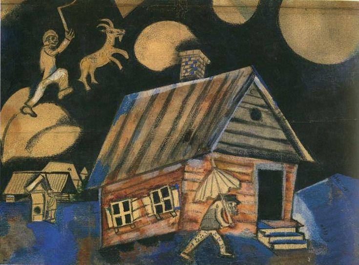 Chagall. Rain.